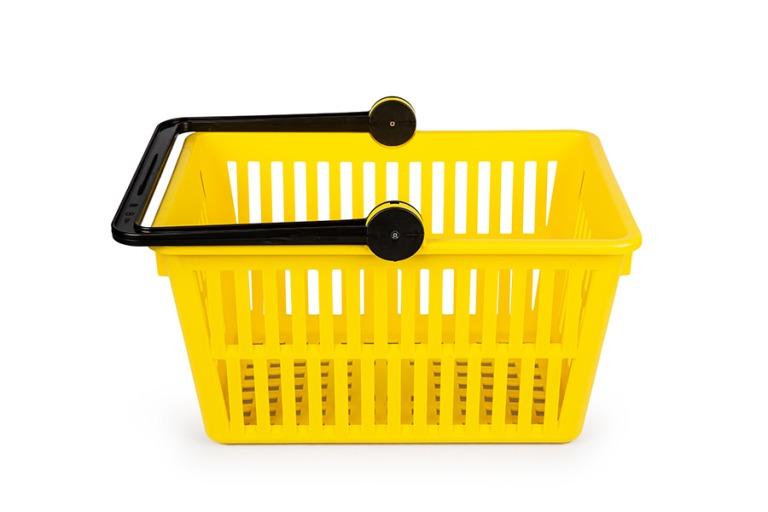 Shopping basket, yellow