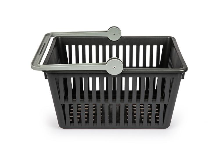 Einkaufskorb, schwarz, Recycling