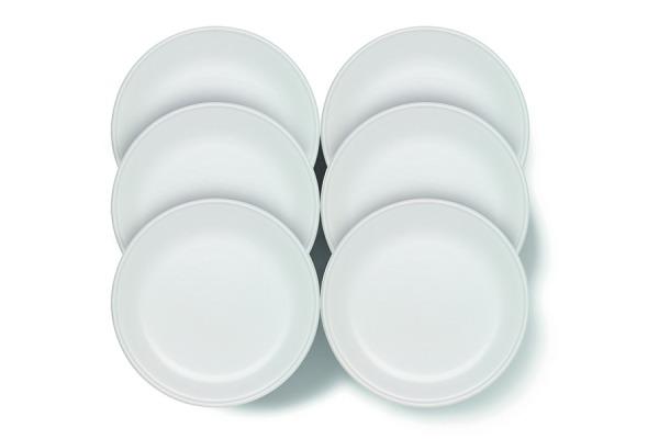 Assiette à fondue Tradition blanc, 6 pcs.