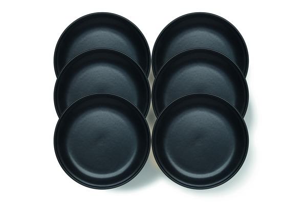 Fondue plate Tradition black, 6 pcs.