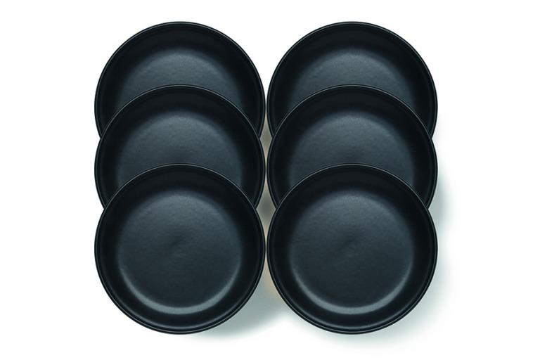 Assiette à fondue Tradition noir, 6 pcs.