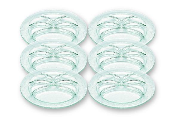 Fondueteller aus Glas