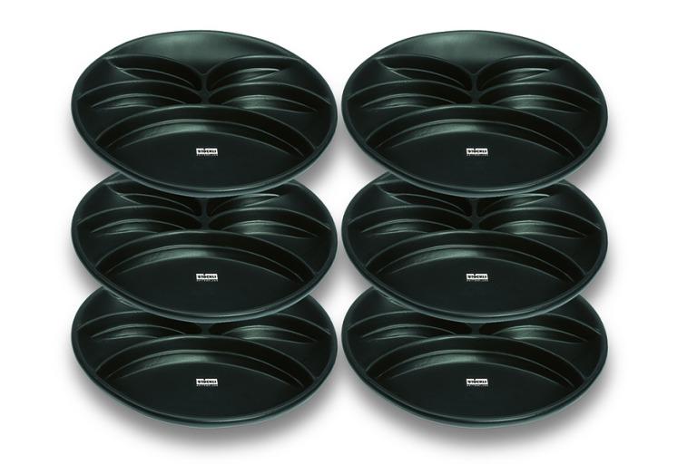 Fondue plate 'noir', 6 pcs.