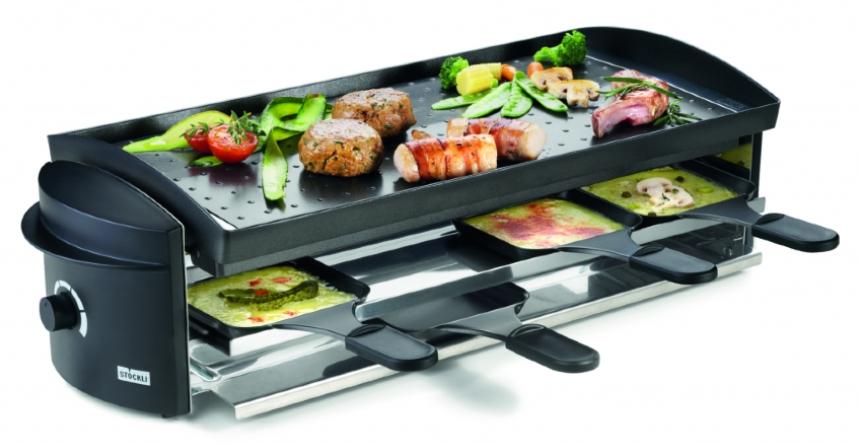 Diese Arten von Raclette Ofen führt die A. & J. Stöckli AG