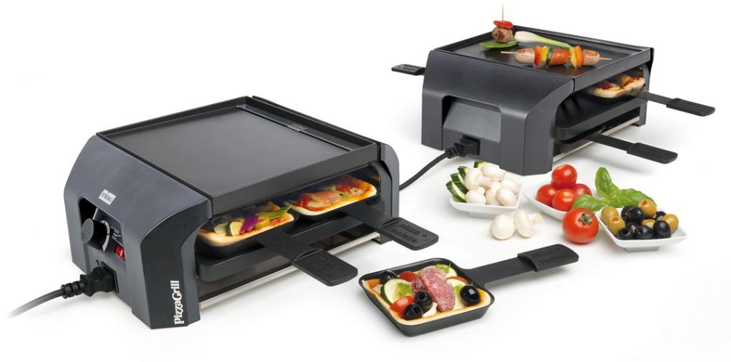 Pizzagrill FourFour Set multifunktionales Tischkochgerät für Raclette, Grilladen, Mini-Pizzas im Stöckli online Shop für Haus, Küche & Garten.